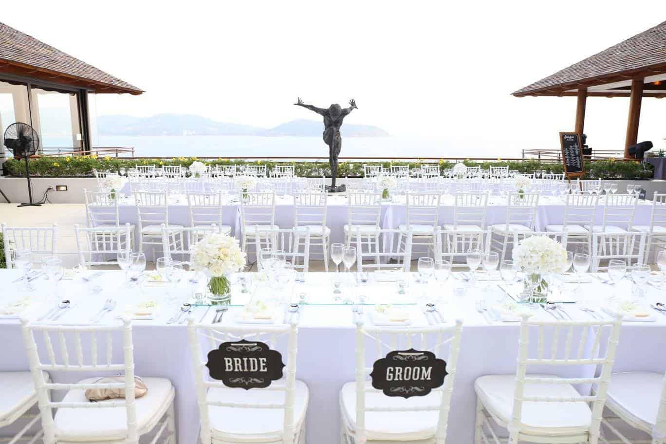 wedding dinner private villa phuket