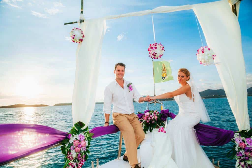 yacht weddings in phuket