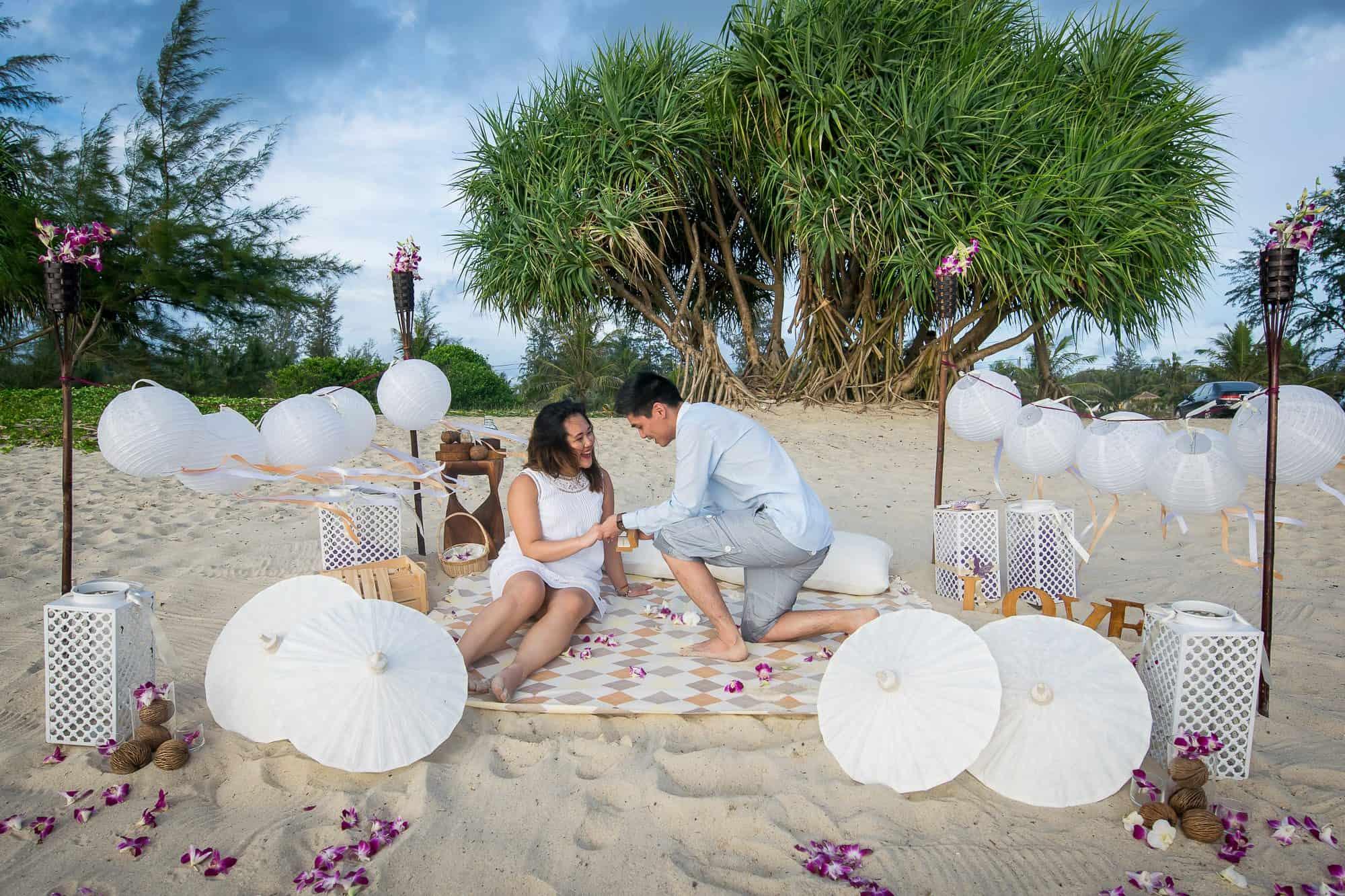 wedding proposals in Thailand